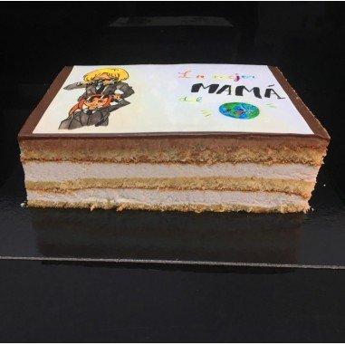 TARTA CHOCOLATE Y NATA de 8 Raciones...