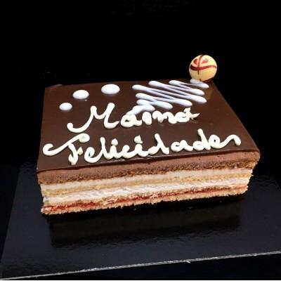 TARTA CHOCOLATE Y NATA de 8...